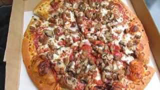 Pizza Huts Deal, Meat Lovers With Extra Sauce And Mushrooms