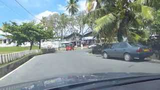 Driving through Galle Fort and town in Sri Lanka