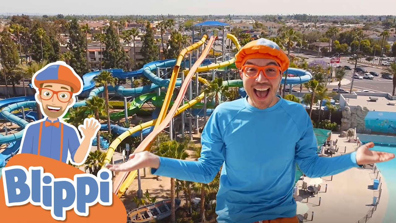 Download Learning With Blippi At The Water Park   1 Hour of Blippi Kids TV Show   Educational Videos For Kids