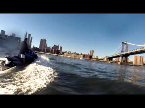 Jet Skiing in New York on the Hudson - October 2015