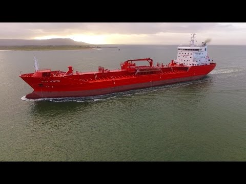 DJI Phantom 3 Advanced - Tanker Ship Sten Moster On Lough Foyle - Aerial Footage