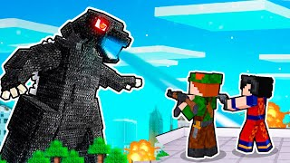 AMIGOS PROTEGEM A VILA DO ATAQUE DO GODZILLA NO MINECRAFT!!