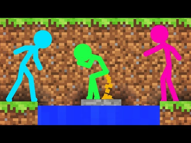 Stickman vs Minecraft: Guess Who - Minecraft Animation