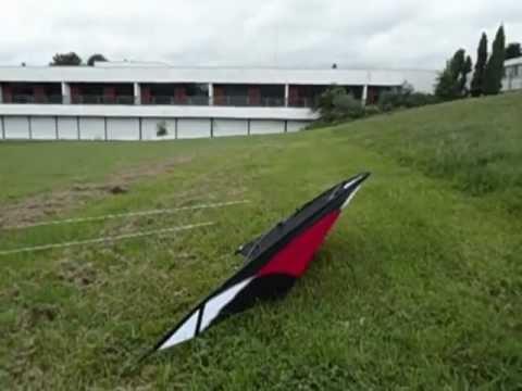Utilisation d'un cerf volant pilotable classique par vent faible