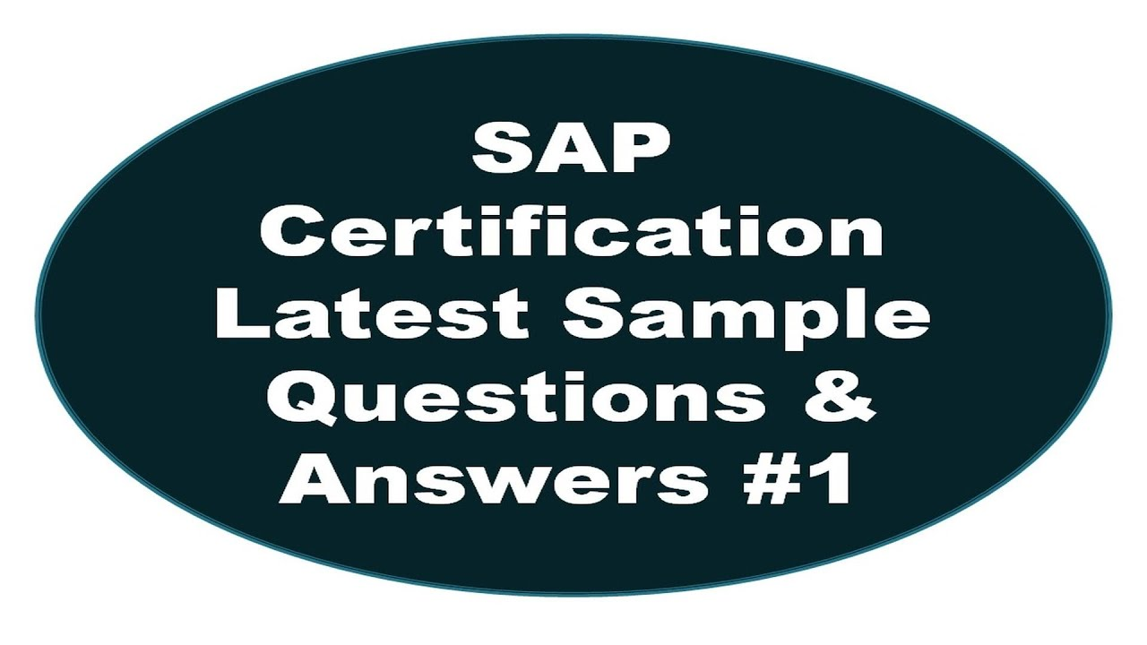 Sap certification latest sample questions and answers 1 youtube xflitez Image collections