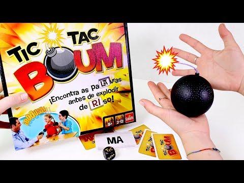 🎲 JUEGOS DE MESA 🎲 Jugamos al juego de mesa Tic Tac Boum de Goliath | Aprende jugando para niños