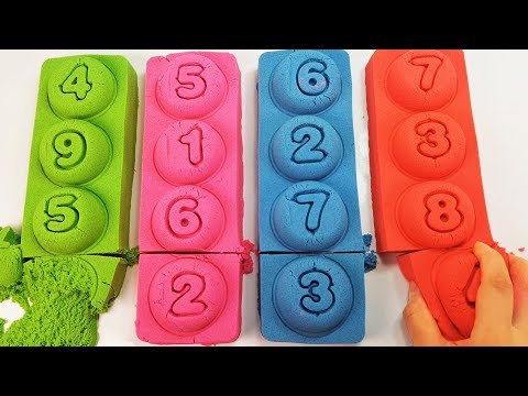 Thumbnail: KINETIC SAND Learn Colors and Numbers for Babies with Kinetic Sand Finger family Nursery Rhymes