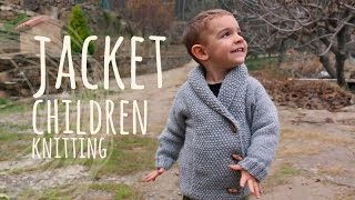 Tutorial Easy Knitting Children Jacket