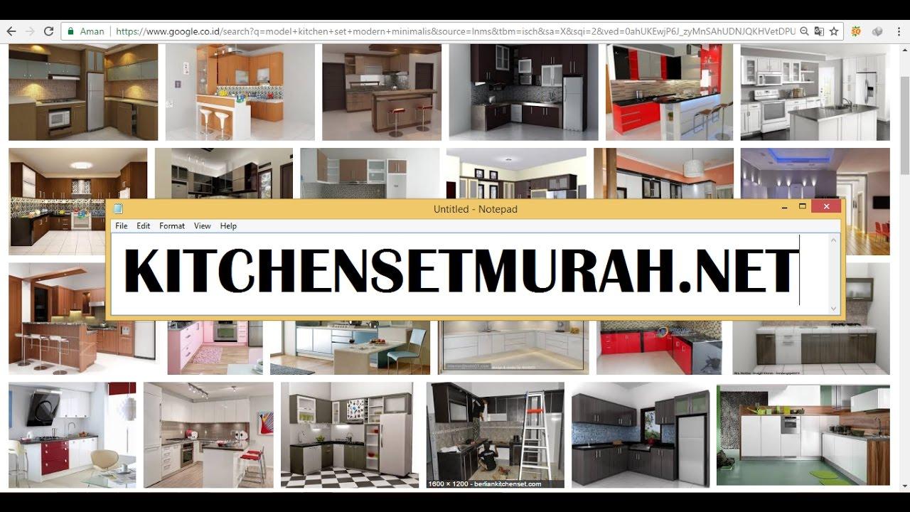 Model kitchen set modern minimalis for Bikin kitchen set