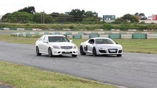 Audi R8 vs Mercedes-Benz C63 AMG