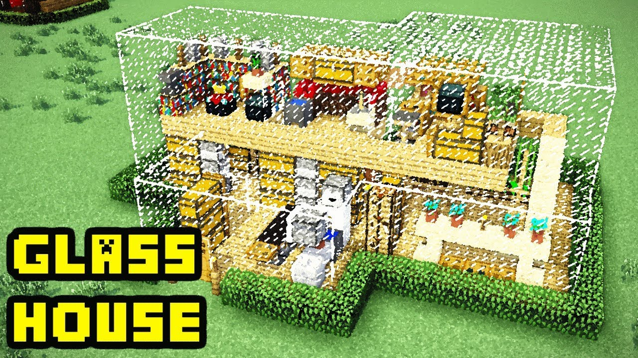 Minecraft Glass House Tutorial How To Build Youtube