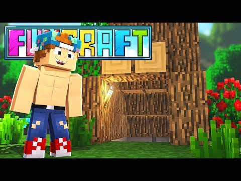 MY NEW HIDDEN TREE HOUSE!? | FunCraft #4
