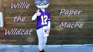 Willie the Wildcat Mascot Head