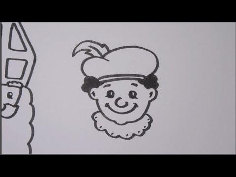 Hoe Teken Je Sinterklaas En Zwarte Piet Youtube