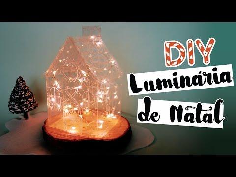 DIY: Decoração de Natal (Luminária Gingerbread House)   Faça seu Natal DIY