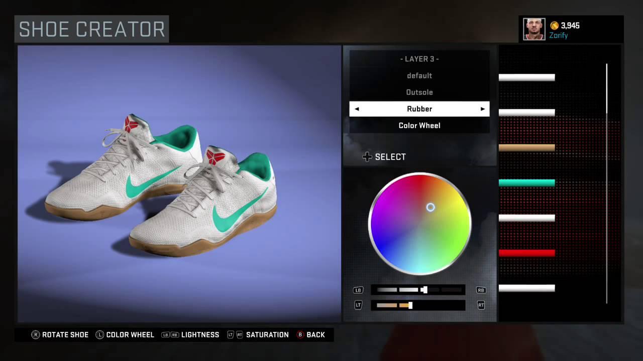 d785cf5a6f2c NBA 2K16 Shoe Creator - Nike Kobe 11