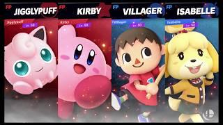Super Smash Bros Ultimate Amiibo Fights   Request #1351 Puffballs vs Animal Crossing