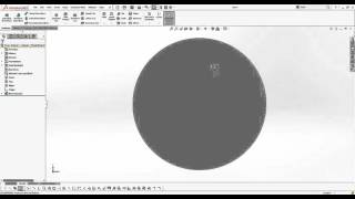 How to increase the edge display of a circle in SOLIDWORKS