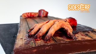 Making A Horror-Themed Evil Dead 2 CAKE Using Perspective Techniques