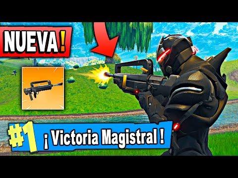 NUEVA ARMA LEGENDARIA DE RÁFAGAS! Fortnite: Battle Royale (NUEVA ACTUALIZACIÓN)