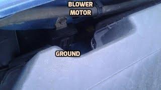 Blower motor repair/PT2/Ground proplems