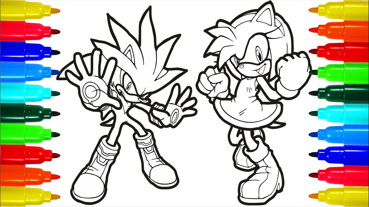 Sonic the Hedgehog + Spongebob Coloring Pages