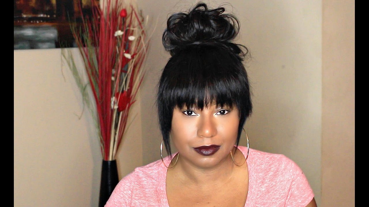 Sassy Faux China Bang With A EXTREMELY Messy Bun
