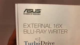 ASUS USB 2.0 3.0 External 12X Blu-Ray Re-writer MacOS Win BW-16D1X-U (03-2018)