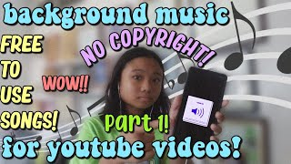 FREE NON-COPYRIGHTED SONGS | Background Music for Vlogs | Royalty free music | PART 1