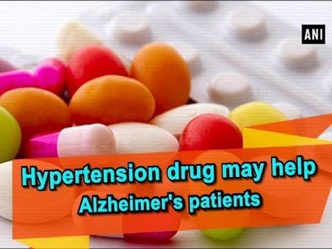 Hypertension drug may help Alzheimer's patients