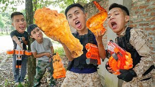 Battle Nerf War: Combatant Forces Nerf Guns Mafia Group steal Chickens Nerf