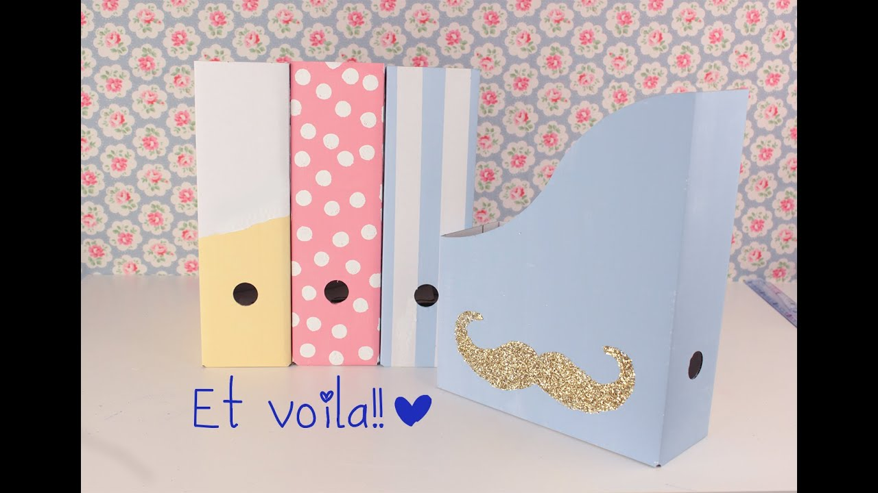 Diy File Holder Or Magazine Holder ♡ ♡ School Supllies