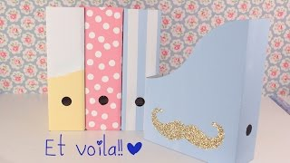 Diy: File Holder Or Magazine Holder ♡ ♡ School Supllies Tutorial