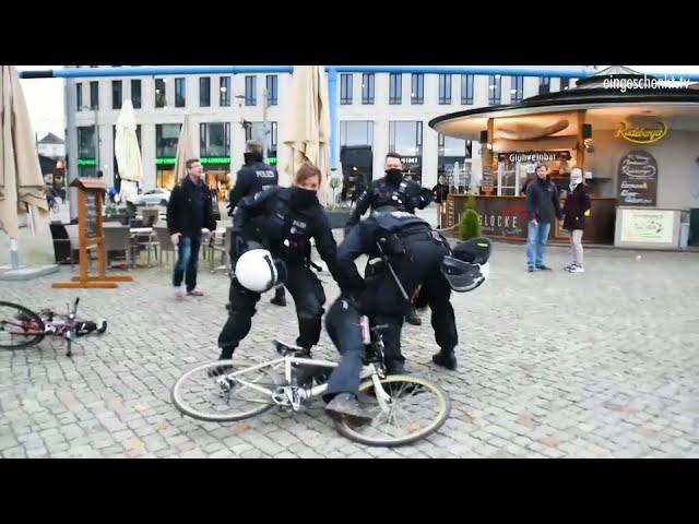 Verbotene Grundrechte: Polizeigewalt in Dresden?