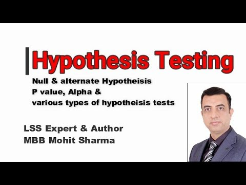 How To Easily Learn Hypothesis Testing, P Value, Alpha And Various Hypothesis Tests.