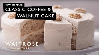 Classic Coffee &amp Walnut Cake  Waitrose &amp Partners
