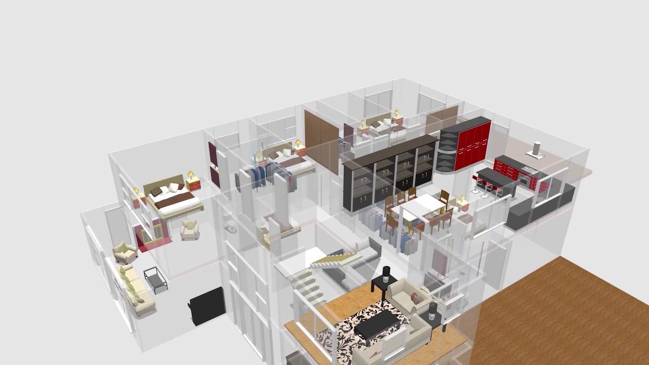Sweet Home 3D The Garden Auckland - YouTube