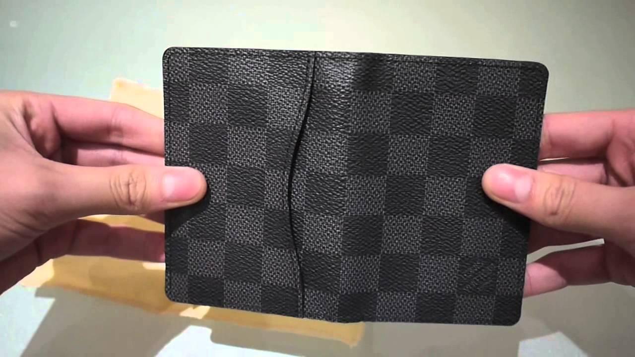 4fbc312f12831 Louis Vuitton Pocket Organiser Damier Graphite - YouTube