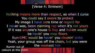 Eminem - I Will (ft. KXNG Crooked - Royce da 5'9'' & Joell Ortiz) - Rhyme Scheme Highlighted