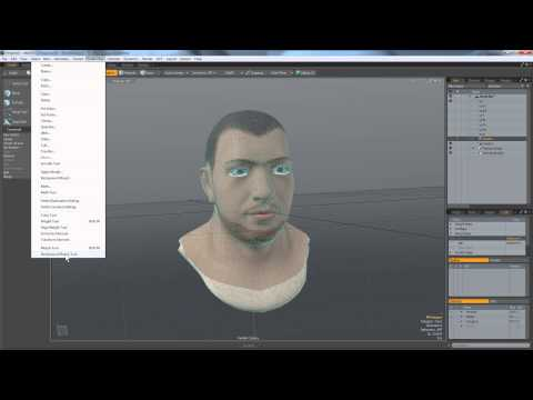 Setting up Morph Map Model for Facial Expression