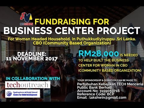 FUNDRAISING video for business center in Sri Lanka by Mycorps South Asia