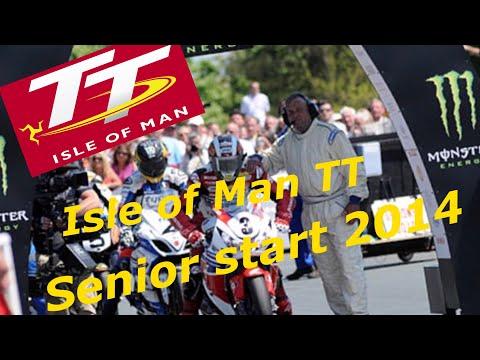 Isle of Man TT Senior Race Start 2014 Friday 6th June