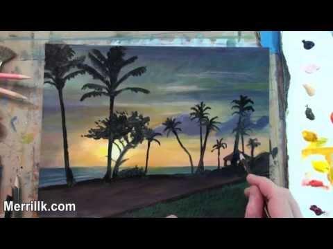 Landscape Painting- Hawaiian Sunset