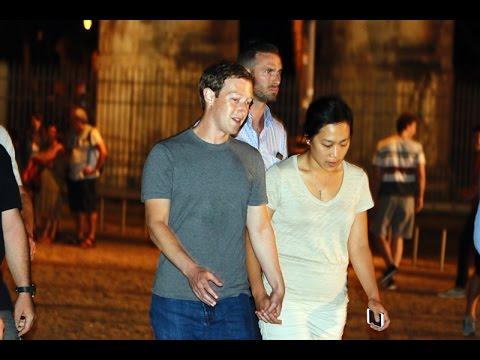 Roma - Mark Zuckerberg e Priscilla Chan visitano il Colosseo