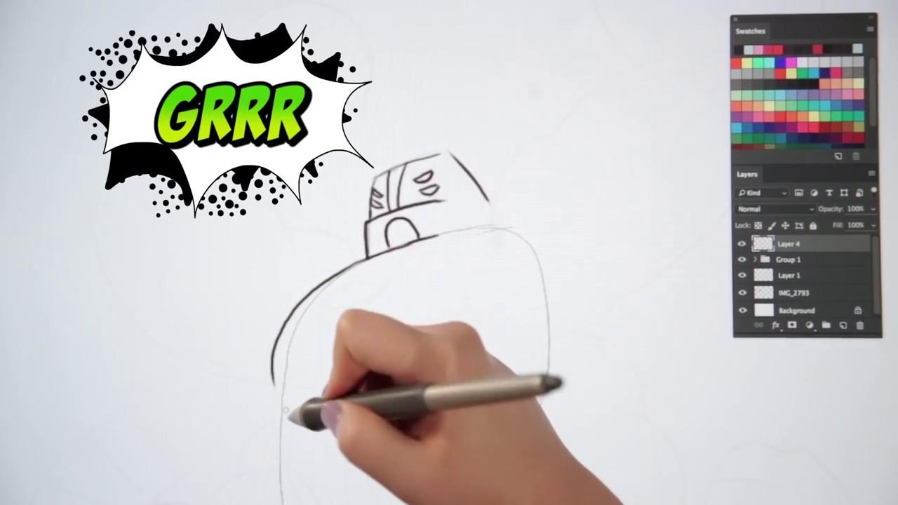 Como Dibujar A Cuatro Brazos [Ben 10 2017] - YouTube