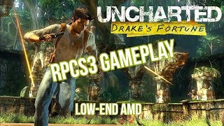 Uncharted: Drake's Fortune | PC Gameplay | RPCS3 | AMD Low-end