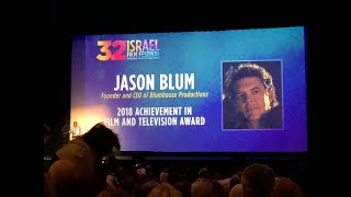 Halloween Producer Jason Blum Booed off LA Israel Film Festival on 11-6-18 for Anti-Trump Remarks!