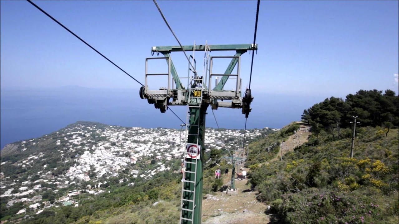 chair lift of monte solaro anacapri capri island youtube