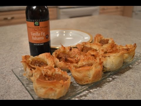 How to Bake Vanilla Fig Balsamic Pumpkin Phyllo Tarts: Wine Country Kitchens with Kimberly