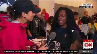 Rescued Woman Goes Off On CNN For Hurricane Harvey Coverage VIDEO